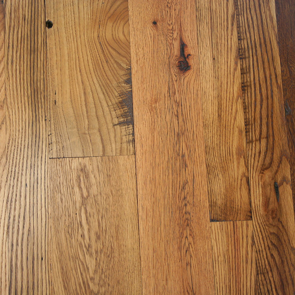 Antique Remilled Oak - Old-time rustic character, typically a mix of red and white oak.