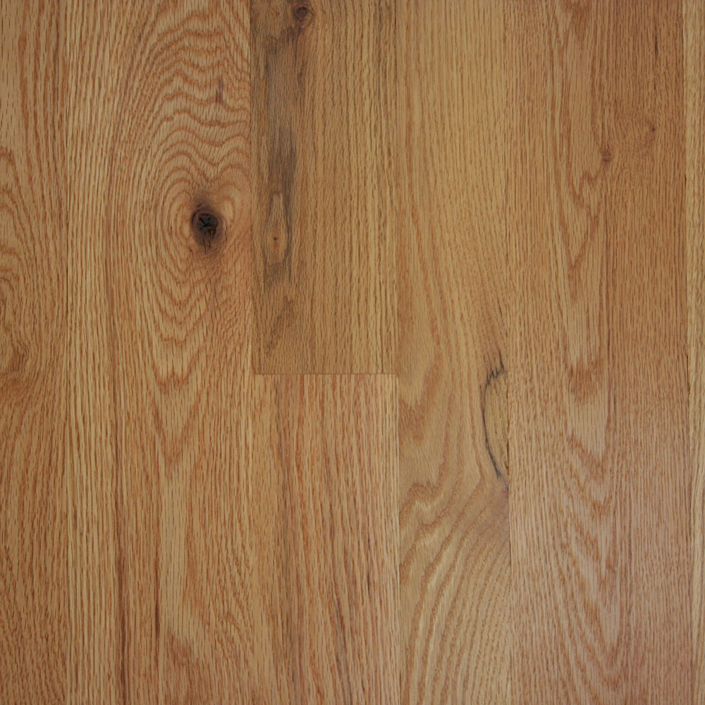 Character Grade Red Oak - A beautiful, soft grain, somewhat knotty wood with some white streaking.